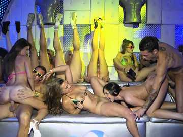 Dancing party turns into orgy with Ava Sanchez, Brittany Shae, Kimmy Granger, Alex Mae and Maria Jade
