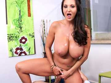 Busty MILF Ava Addams seduces her husband for POV pussy fucking porn video