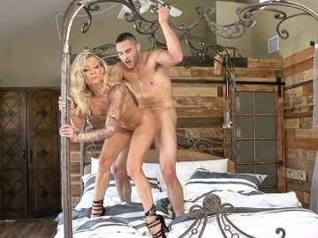 Playful blonde Synthia Fixx is involved in dirty action with her husband's son