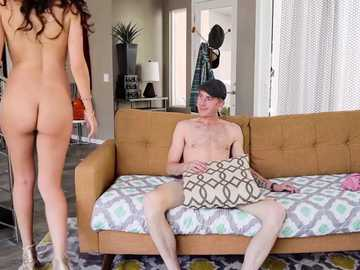 Audrey Royal bangs Danny D to enjoy his monster cock up her shaved pussy