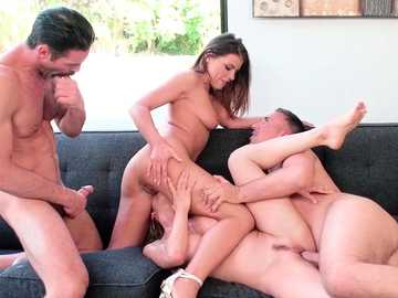 Alexis Fawx and Adriana Chechik are pussy fucking at swingers squirt party