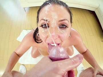 Angela White's Big Titty FuckDeep Throat BJ