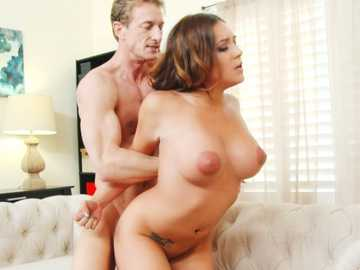 Curly brunette Jean Michaels goes through intense fuck to get the desired job