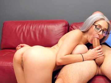 Naughty Skylar Vox wants to try Jmac's dick after study group meeting