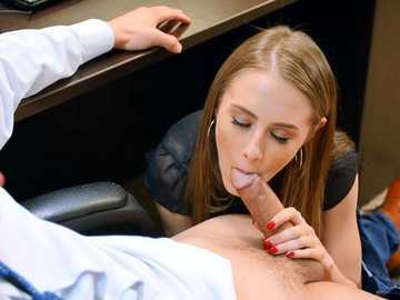 Kyler Quinn doesn't mind getting naughty with her coworker at the office