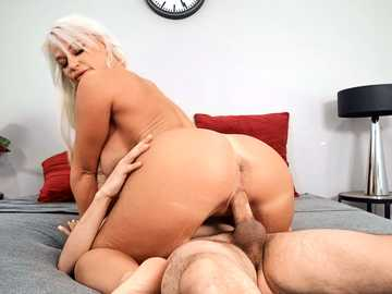 Skillful MILF London River shows a young guy that she is a pro at riding