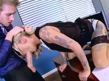 Kleio Valentien takes dick into her mouth and then throats her partner