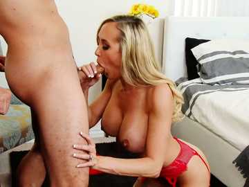 Ass licking turns busty MILF Brandi Love into a desperately cheating wife